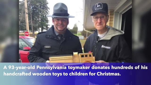 93-year-old toymaker makes hundreds of wooden toys to donate to children for Christmas - TheBL.com